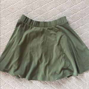 Olive green wet seal skirt